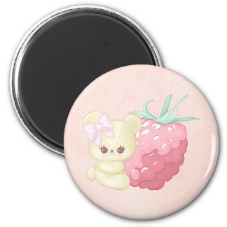 Tiny Raspberry Cutie Bear Magnet
