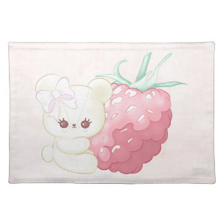 Tiny Raspberry Cutie Bear Placemat