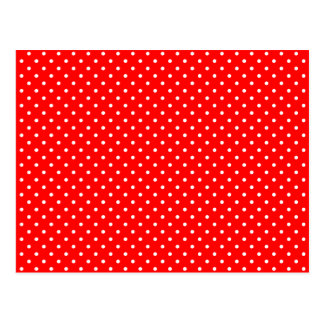 Tiny Red and White Polka Dots Postcard