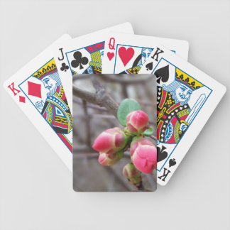 tiny red buds bicycle playing cards
