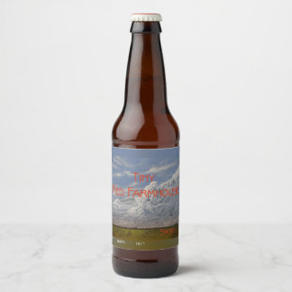 Tiny Red Farmhouse - Saison (Name & style) Beer Bottle Label