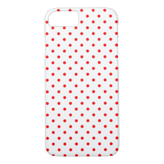 Tiny Red Polka Dot Pattern iPhone 8/7 Case