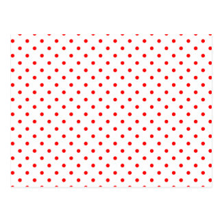 Tiny Red Polka Dots Postcard