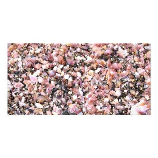 Tiny sea shells custom photo card