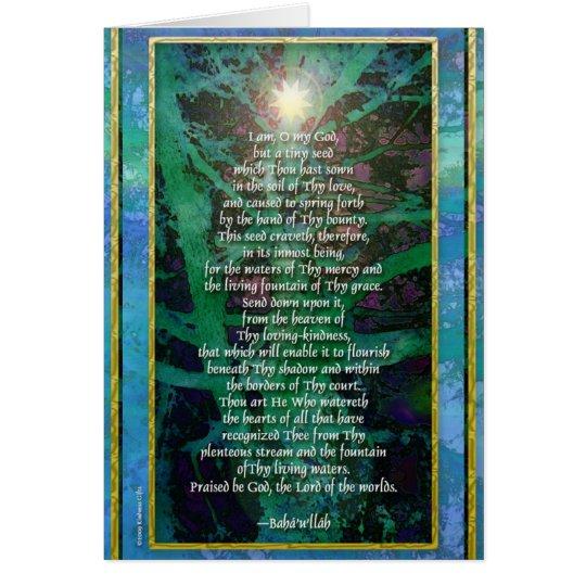 Tiny Seed Baha'i Prayer Card