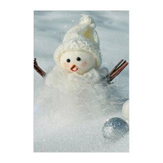 Tiny Snowman Acrylic Wall Art