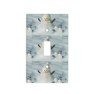 Tiny Snowman Light Switch Cover