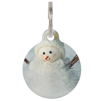 Tiny Snowman Pet Tag