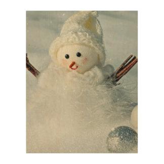 Tiny Snowman Wood Wall Art
