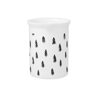Tiny snowy forest print pitcher
