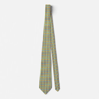 Tiny squares patterned tie