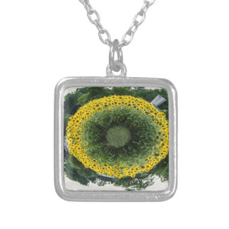 Tiny Sunflower Planet Silver Plated Necklace