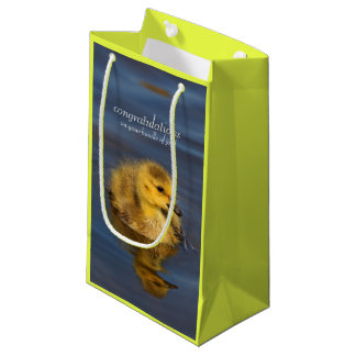 Tiny Swimmer: Canada Goose Gosling Small Gift Bag