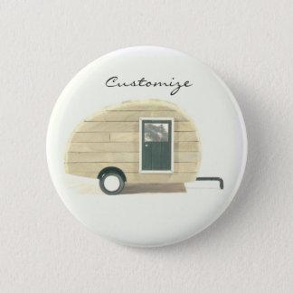 Tiny teardrop gypsy caravan Thunder_Cove 2 Inch Round Button