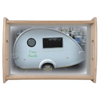 tiny teardrop trailer  gypsy caravan serving tray