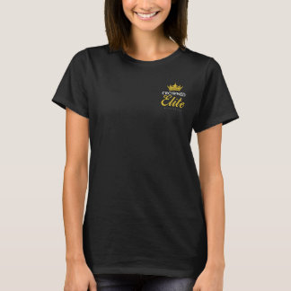 TINY TIARAS: Official 17-18 Logo on Black T-Shirt