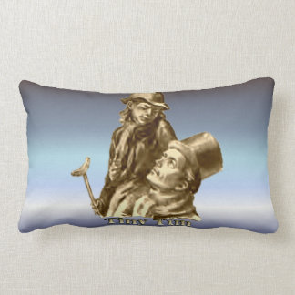 Tiny Tim and Bob Cratchit from A Christmas Carol Throw Pillows
