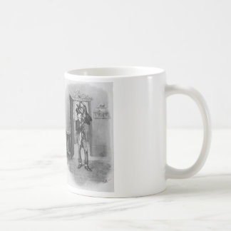 Tiny Tim and Bob Cratchit. Basic White Mug
