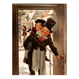 Tiny Tim and Bob Cratchit on Christmas Day Post Cards