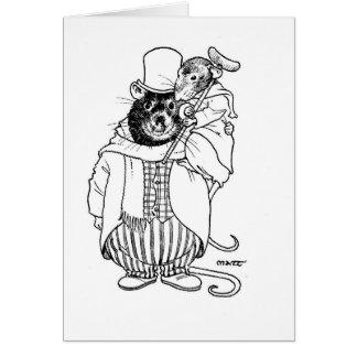 Tiny Tim & Bob Cratchett Card