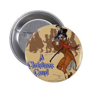 Tiny Tim on Bob Crachit s shoulder Pinback Buttons