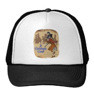Tiny Tim on Bob Crachit's shoulder Trucker Hats