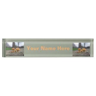 Tiny Toadstools Macro Custom Nameplate