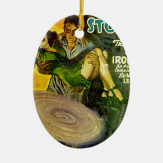 Tiny Tornado Ceramic Oval Ornament