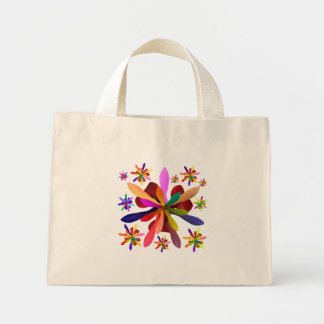 Tiny Tote with Stylized Flower 1