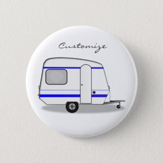 Tiny trailer gypsy caravan Thunder_Cove any color 2 Inch Round Button
