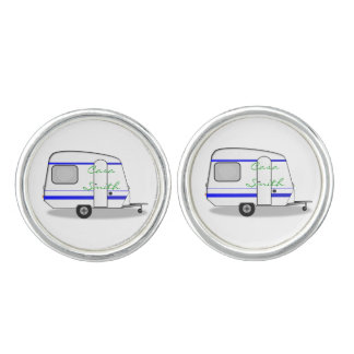 Tiny trailer gypsy caravan Thunder_Cove any color Cuff Links