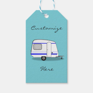 Tiny trailer gypsy caravan Thunder_Cove any color Gift Tags