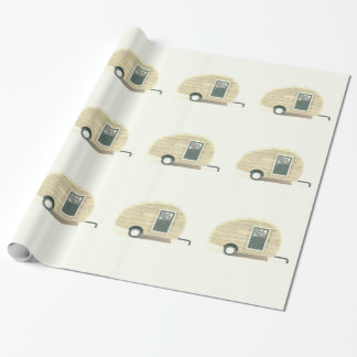 tiny trailer gypsy caravan wrapping paper