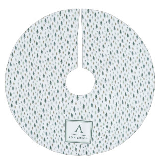 Tiny Trees   Monogrammed Brushed Polyester Tree Skirt