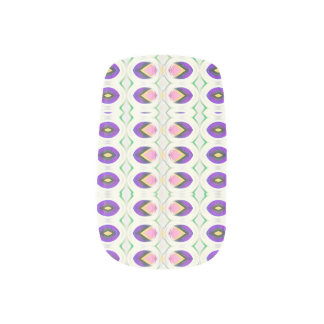 Tiny Tulips in pink and purple Minx Nail Art