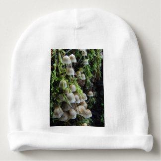 Tiny White Mushrooms Baby Beanie