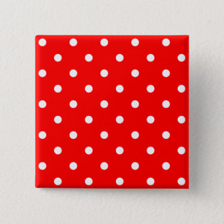 Tiny White Polka Dots 2 Inch Square Button