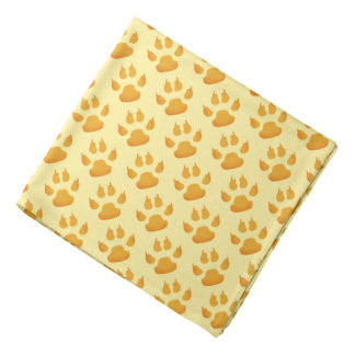 Tiny Yellow Paws and Claws Bandana