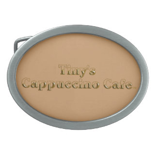 Tiny's Cappuccino Cafe Logo Belt Buckle