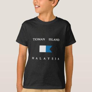Tioman Island Malaysia Alpha Dive Flag T-Shirt