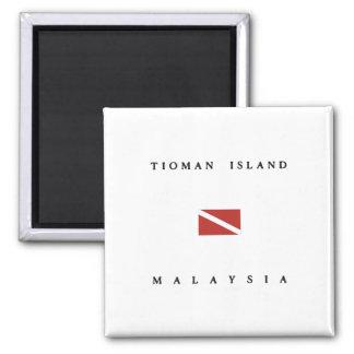 Tioman Island Malaysia Scuba Dive Flag Magnet
