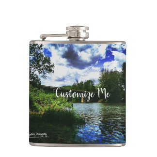 Tionesta Bridge Hip Flask