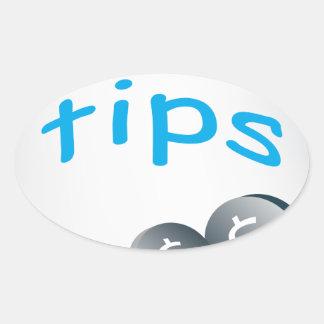 Tip Jar Oval Sticker