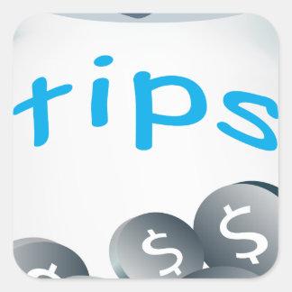 Tip Jar Square Sticker