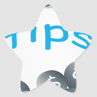 Tip Jar Star Sticker