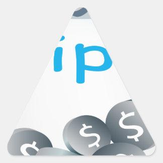 Tip Jar Triangle Sticker