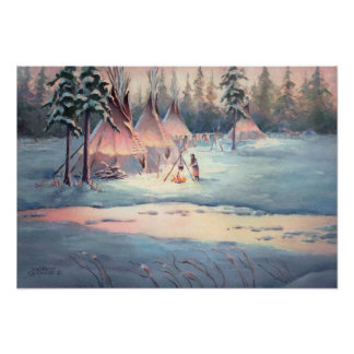 TIPI CAMP CHORES by SHARON SHARPE Poster