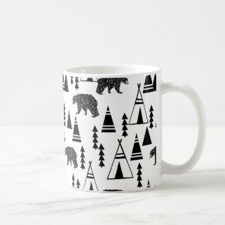 Tipi Forest Bear Geo Southwest / Andrea Lauren Coffee Mug