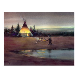 TIPI LIGHTS by SHARON SHARPE Postcard