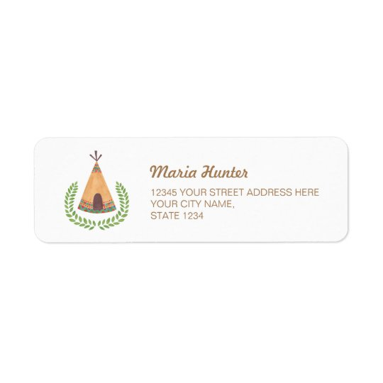 Tipi Return Address Label